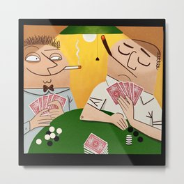 Poker Faces Metal Print