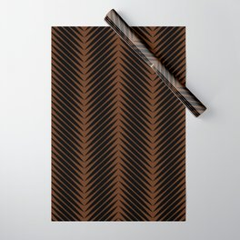 Palm Symmetry - Dark Earth Wrapping Paper