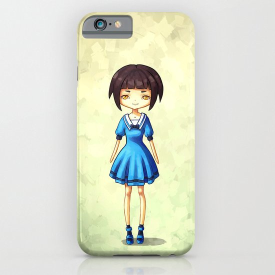 Girl in Blue iPhone & iPod Case