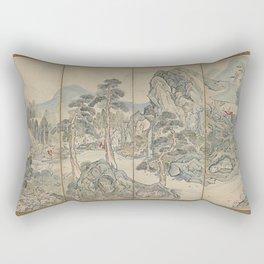 Orchid Pavilion Gathering Rectangular Pillow