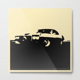 Pontiac Firebird, Black on Cream Metal Print
