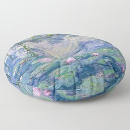 "Claude Monet ""Water Lilies(Nymphéas)"" (9) 1916–19.jpg Floor Pillow"