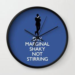Not My Cuppa Wall Clock