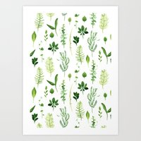 leaves Art Prints featuring Leaves by Vicky Webb