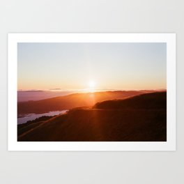 Sun Sets over Bolinas Ridge - 35mm Film Art Print