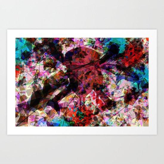 Skull and sharks Art Print