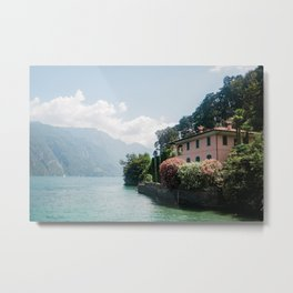 A summer at lake como, Italy Metal Print