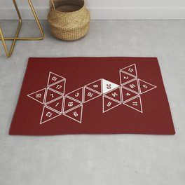 Red Unrolled D20 Rug