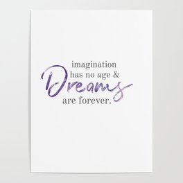 imagination and dreams Poster