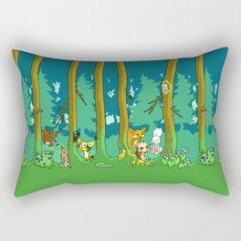 Deep inside the Forest Rectangular Pillow