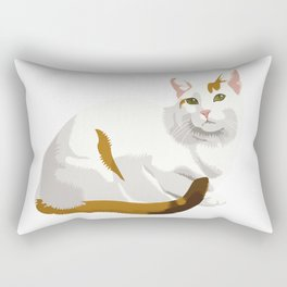 Shy Kitty Rectangular Pillow
