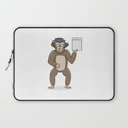 clever monkey with diploma Laptop Sleeve