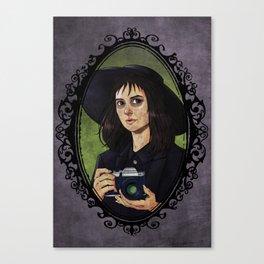 Halloween Heroines Series: Lydia Deetz Canvas Print