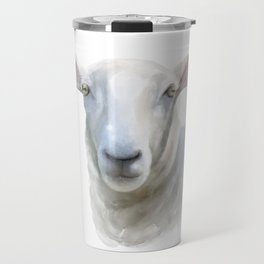 Watercolor Sheep Travel Mug