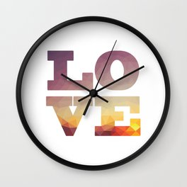 Sunset Future Love Wall Clock