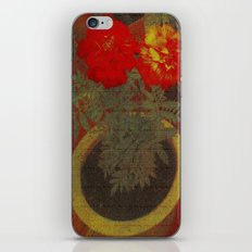 Potted Tagetes. (Canvas) iPhone & iPod Skin