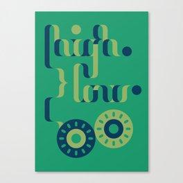 High Low Canvas Print