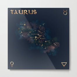 Taurus Constellation Metal Print