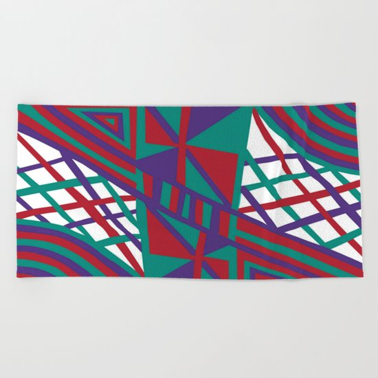 Purple Infusion Beach Towel