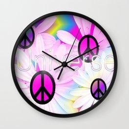 Flower Power Universe Wall Clock