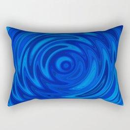Water Moon Cobalt Swirl Rectangular Pillow