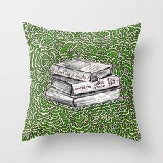 Book Drawing Meditation (artistic)  Throw Pillow