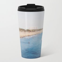 Beach Day at Santa Monica Travel Mug