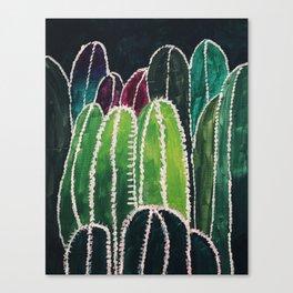 Cactus Field Greens Canvas Print