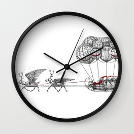 Steampunk Santa or Ferrous Father Christmas Wall Clock
