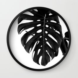 Monstera Delight #2 #tropical #decor #art #society6 Wall Clock