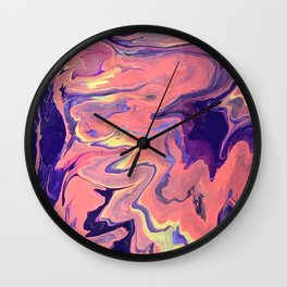 Pooling Paint 1 Wall Clock