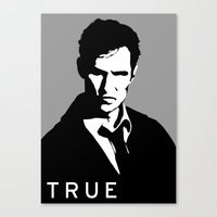 true detective Canvas Prints featuring True Detective by Green'n'Black