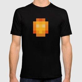 hero pixel red yellow T-shirt