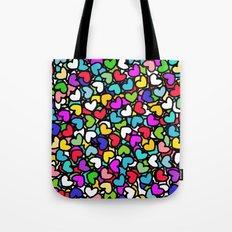 Rainbow LOVE Hearts Tote Bag