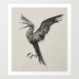Hunger Bird Art Print