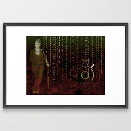 Ghost Mathematician Framed Art Print