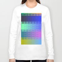 fabric Long Sleeve T-shirts featuring Blocky Fabric by writingoverashes