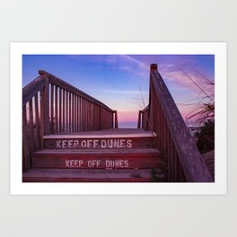 Keep off Dunes Art Print