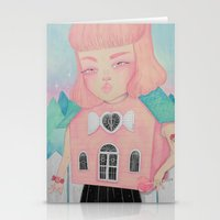 loll3 Stationery Cards featuring Dollhouse by lOll3