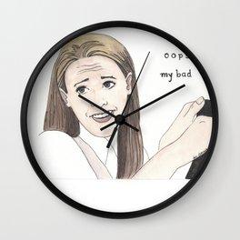 OOPS MY BAD Wall Clock