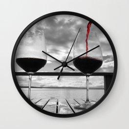 Wine Enthusiast Wall Clock