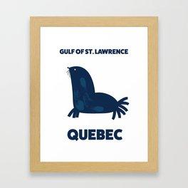 Gulf of St. Lawrence, Quebec Framed Art Print