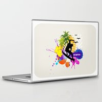 surfing Laptop & iPad Skins featuring surfing  by mark ashkenazi