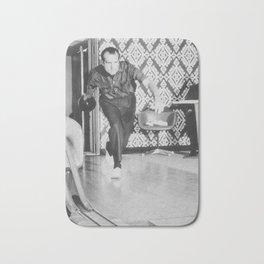 President Richard Nixon Bowling At The White House Bath Mat