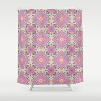 moroccan Shower Curtains featuring Faded Moroccan by k_c_s