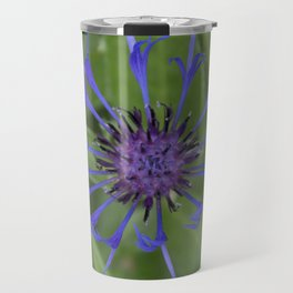Thin blue flames in a sea of green Travel Mug