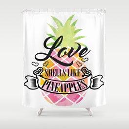Funny Exotic Pineapple Fruit Summer Sun Beach Gift Shower Curtain