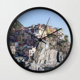 Manarola, Cinque Terre Italy Wall Clock