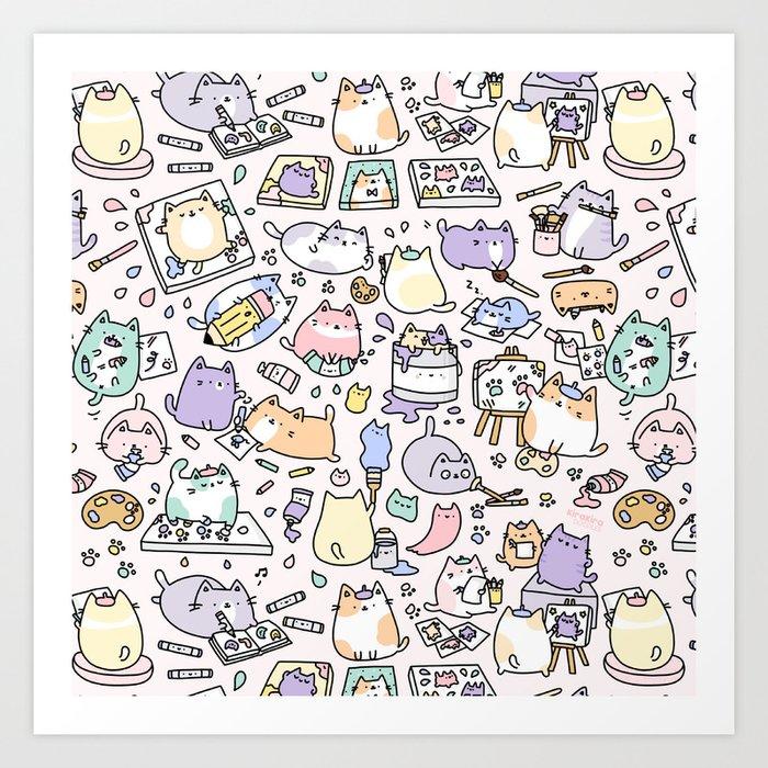Artsy Cats Kunstdrucke