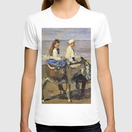 Isaac Lazarus Israels - Boy And Girl Riding Donkeys - Digital Remastered Edition T-shirt